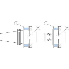 Schäfte und Werkzeugaufnahmen für Brückenwerkzeuge Serie 318, Ø 620 - 3 000 mm