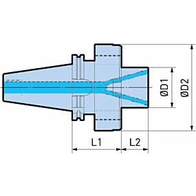 Schäfte und Werkzeugaufnahmen für Brückenwerkzeuge Serie 318, Ø 620 - 3000
