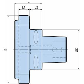 Flansch für Feinbohrköpfe: Ø 200 - 620 mm