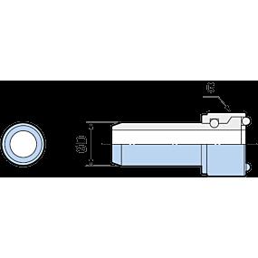 Tubos para refrigerante Tipo 1° de giro (DIN) para forma A/E