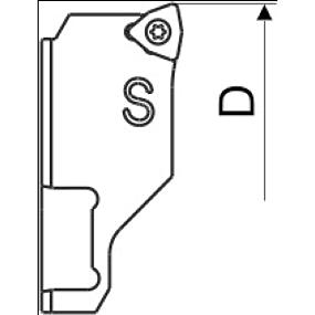 Wendeplattenhalter Ersatzteil Kurz WC
