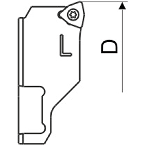Wendeplattenhalter Ersatzteil Lang WC
