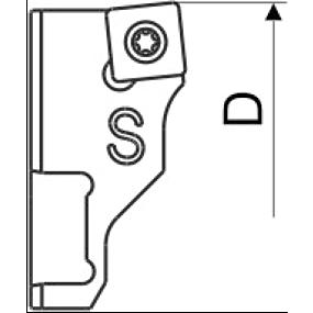 Wendeplattenhalter Ersatzteil Kurz SC-SP