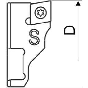 Wendeplattenhalter Ersatzteil Kurz CC